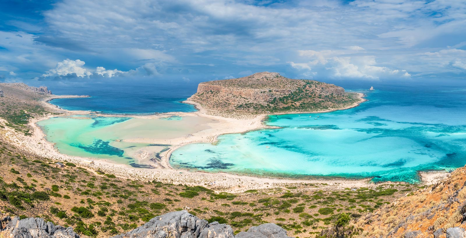 Balos beach panoramic view
